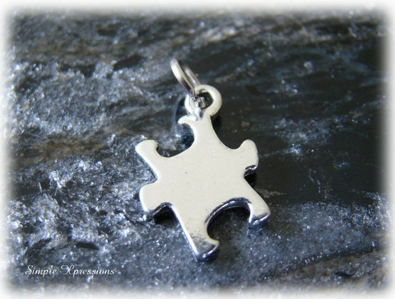 Autism Puzzle Piece Charm Add-On