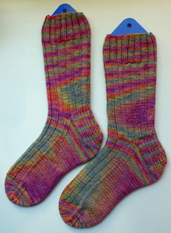 Hand Knit Mens or Womens Wool Socks - Opal Sock Yarn (O-070)