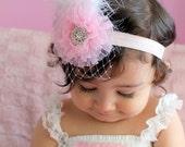 baby headband...baby girl newborn headband...photography props..birthday prop