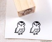 Cute bird Small Rubber Stamp