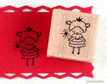 50% OFF SALE Cute Girl Rubber Stamp