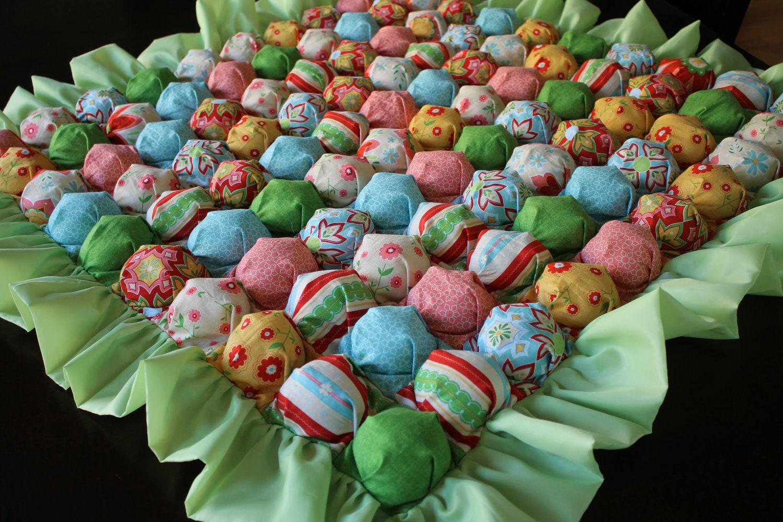 Bubble Blanket Puff Blanket Biscuit Quilt Multicolor