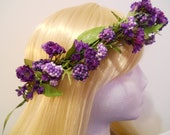 Flower Crown, Head Wreath, Purple, Lavender, Berry, Flowers for Wedding, Bridal, Flower Girl, Hair Accessory, Flower Tiara, Hippie, Circlet