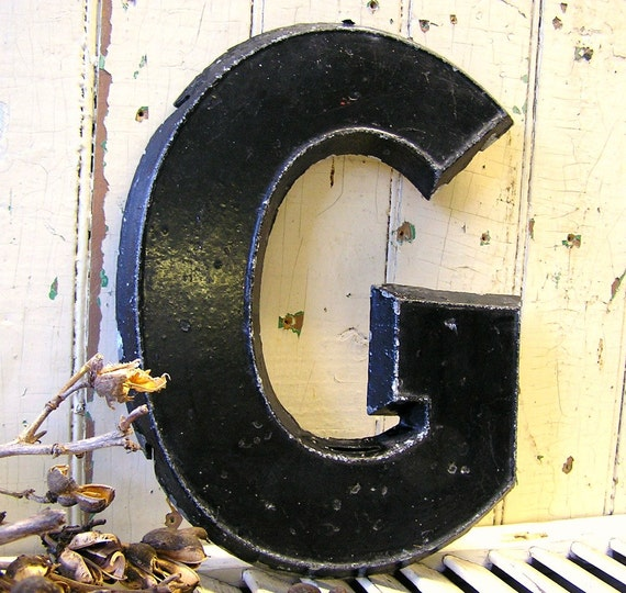 vintage metal letters vintage metal letter g other letters available alphabet 1702