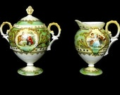 Victorian Style Porcelain Creamer & Sugar Bowls