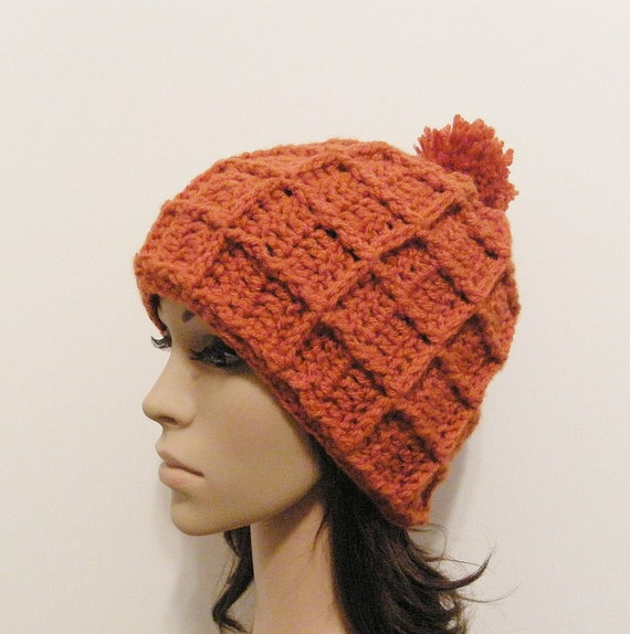 Epic Snow Beanie - Terracotta - Made to order - Mens and womens hat