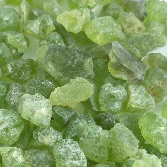 2pcs Peridot Gemstones, August Birthstone, Jewelry Supplies, Raw and Natural