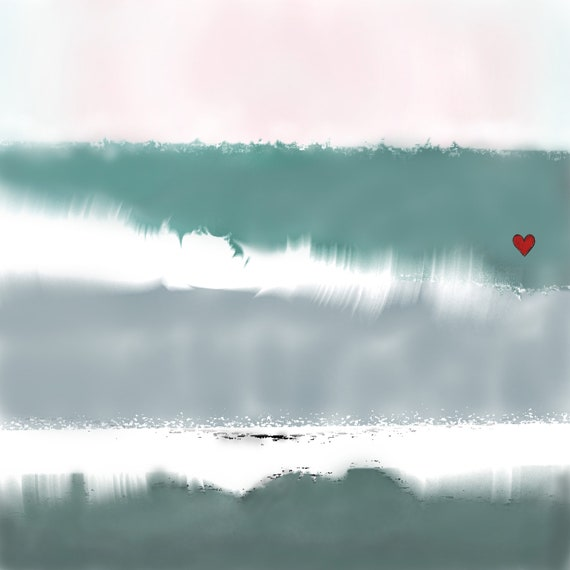 10X10 I HEART WAVES Series - Waves 8 Digital Painting