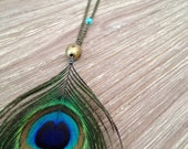 Peacock Eye Feather Necklace