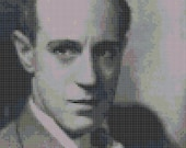 Leslie Howard Cross Stitch Pattern - Old Hollywood, Celebrity, Classic Film