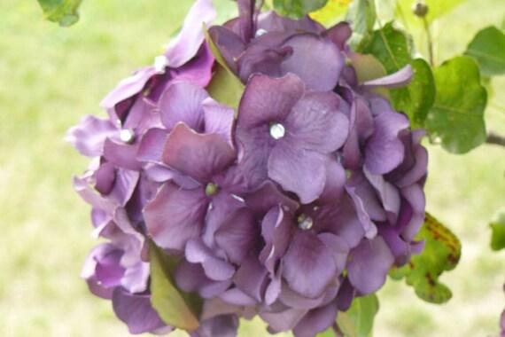 Wedding, Kissing Balls, Bridal Bouquet, Purple Plum, Purple  Pomanders, Wedding Flowers