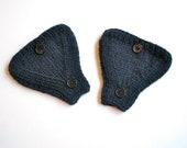 Bike Accessories Bicycle Helmet Ear Warmers Knit in Navy Dark Blue Wool