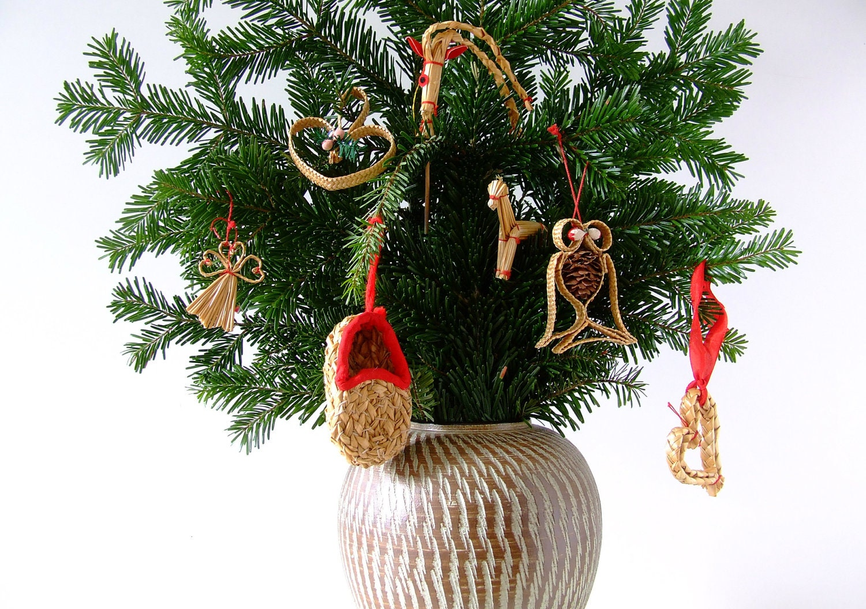 Danish Nature Christmas Tree Ornaments Scandinavian Vintage