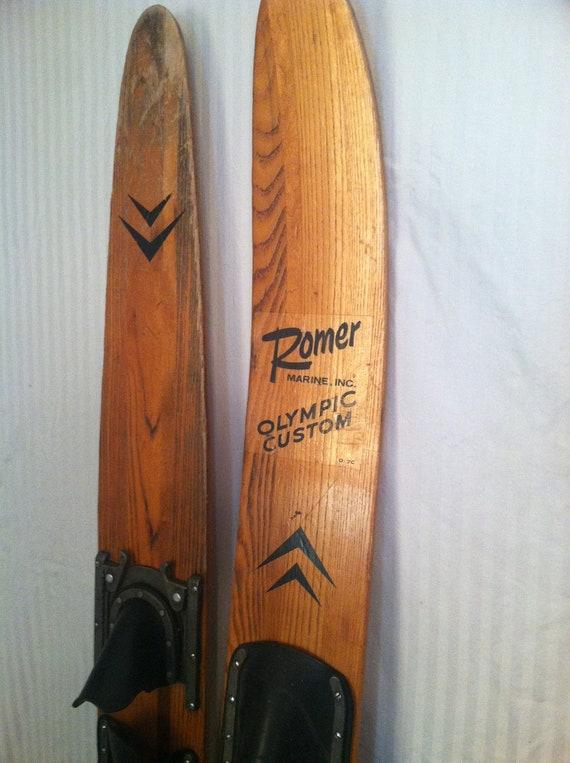 Vintage Wooden Water Skis 117