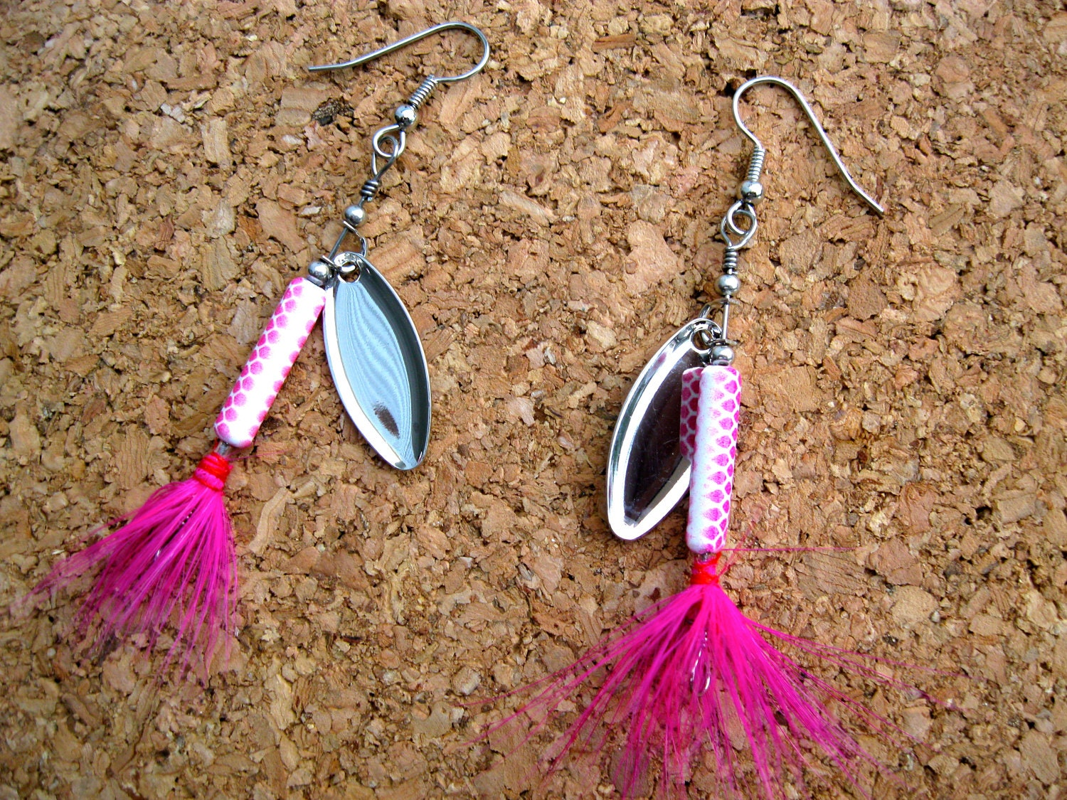 fishing lure earrings