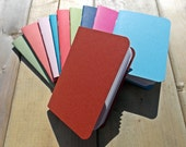 Handmade Mini Notebook -  Choose From More Than 35 Colors - Field Journal - Art Journal - Blank - Sketchbook