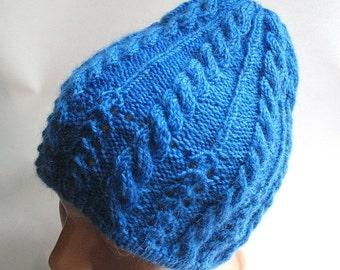 Beanie OOAK Wool in Blue