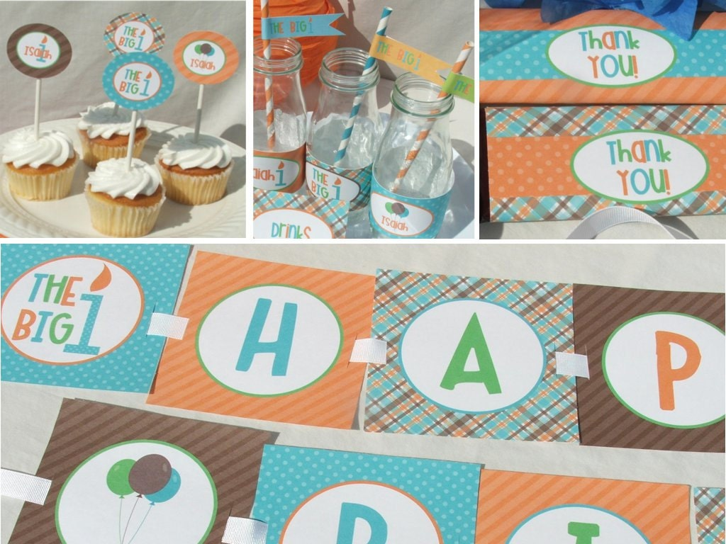Unavailable listing on etsy for 1st birthday decoration packages