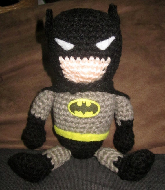 Items similar to Super Adorable crochet Amigurumi Batman ...