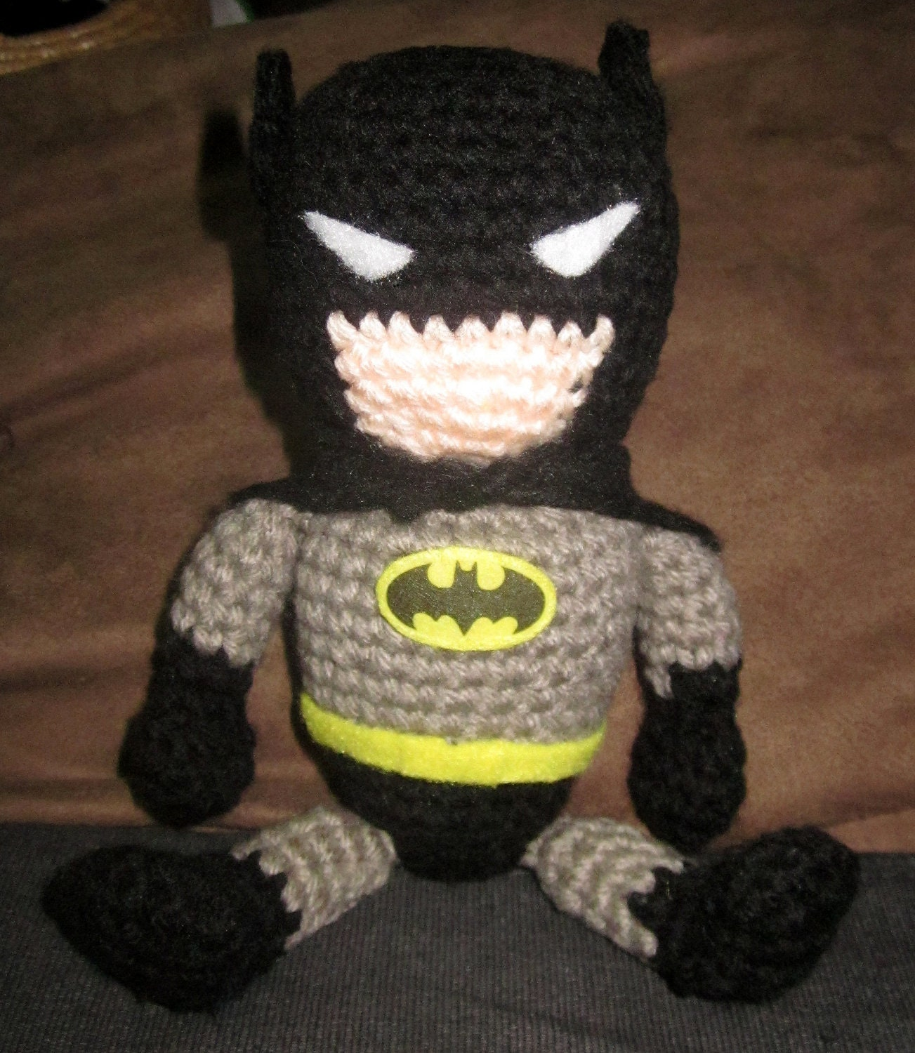 Free Amigurumi Batman Pattern : Super Adorable crochet Amigurumi Batman by JNArts on Etsy