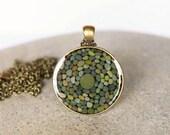 Pebble Pendant - Antique Bronze and Natural Beach Stone Jewelry
