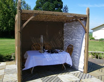 Sukkah, Standard.  Traditionally crafted from sustainable raw materials using traditional joinery, Kosher