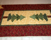 Quilted Christmas Placemats and Runner Set
