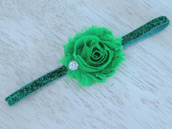 Baby Headbands- Newborn Headbands- Green Headband- Baby Girl- Infant- Toddler Headbands- Adult-Photo Prop