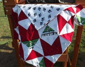 Red and white dalmatian blanket