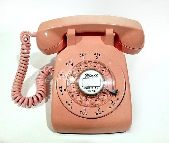 WORKING - Pink Rotary Phone Telephone 1967
