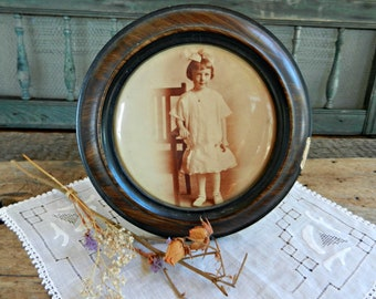 Antique Easel-Style Framed Celluloid Photo, Early 1900's