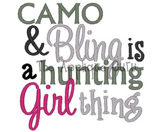 Camo and Bling  --  Machine Embroidery Design