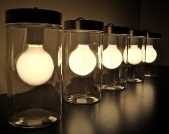 Modern Glass Tube Table Light / Glass Table Lamp/ Glass Floor Lamp, Modern Table Lamp, Light with Silver Lid