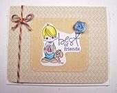 Handmade Note Card - Best of Friends
