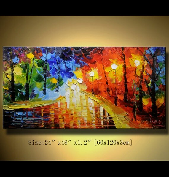 Original Palette Knife Abstract Painting, Modern Textured Painting,  Painting Oil on Canvas,Home Decor, by Chen 0130
