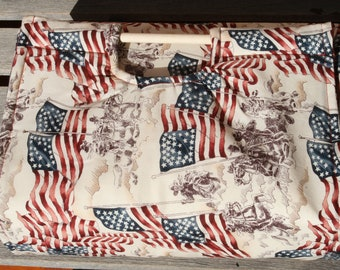 Insulated Casserole Carrier - Patriotic USA Revolutionary War, Personalization Available