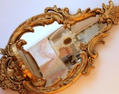 RESERVED...Large Ornate Wall Mirror with Shelf...Gold...Vintage...Hollywood Regency...Paris Apartment...1st Layaway Payment for Pair