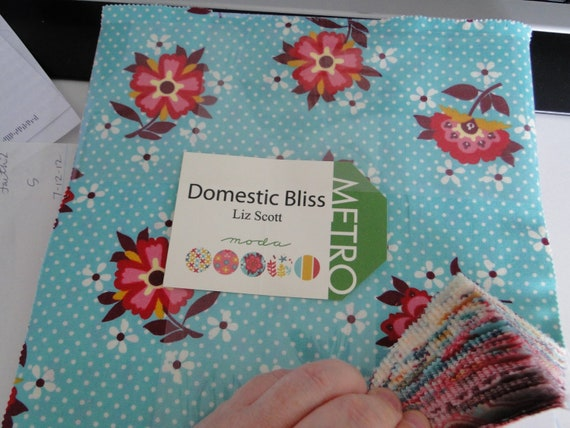 destash sale DOMESTIC BLISS by Liz Scott for MODA Layer Cake 42-10x10 Squares