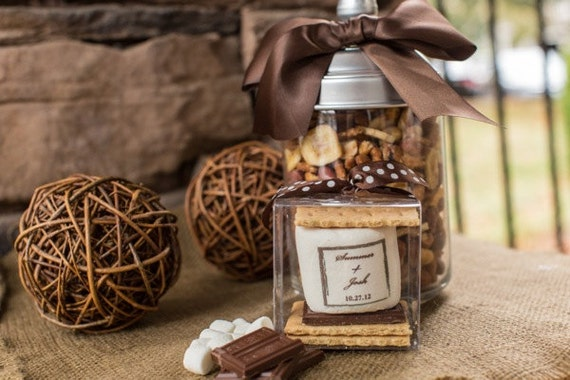 100 s'mores kit  unique wedding favor custom business branding promotional client gift company logo camping