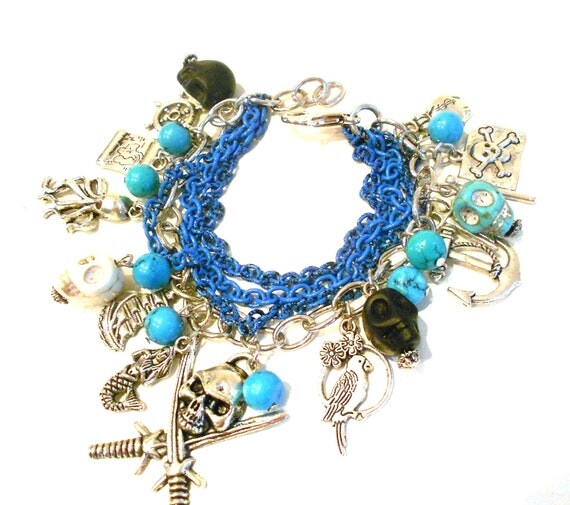 Pirate Charm Bracelet ...Argh Matey, Pirate Booty