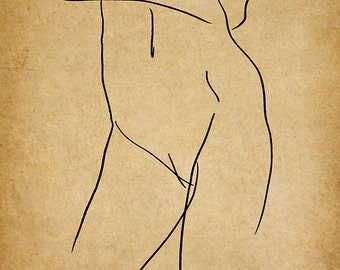Grace, A Gestural Drawing.