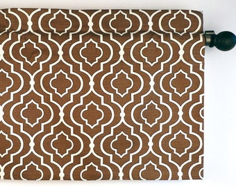 Window Valance Geometric Design in Graphite Fabric by Mill Creek (curtain rod not included)