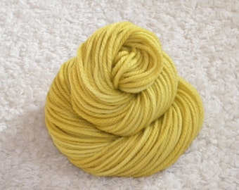 Hand Dyed yarn, Bulky Weight, 100% Superwash Merino Wool, 120 yards/100g- 'Honey Bee'