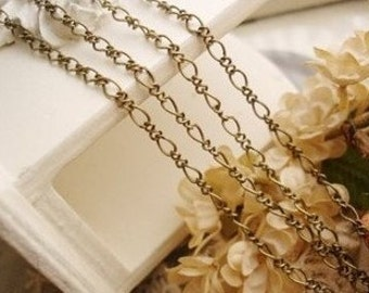 5meter raw Brass  plating antique bronze  chain