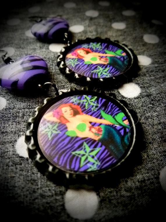 Mermaid Pinup earrings