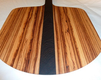 Pizza Paddle & Baker's Peel in Zebrano and Wenge (mostly black)