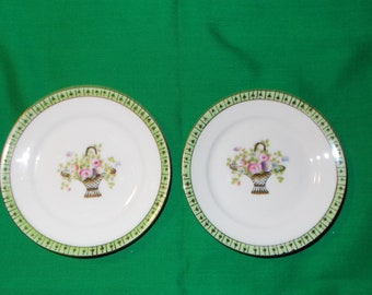 """Two (2), 4 3/8"""" Porcelain Demitasse Plates, from Noritake, in the N748 Pattern"""