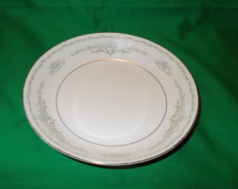 "One (1), Porcelain, 7 1/2"" Coupe Soup Bowl, from Mikasa China, in the Beatrix 5754 Pattern."