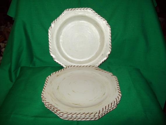 "Four (4), 9 1/4""  Lenox Riverwood,  Dinner Plates"