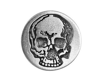 2 Yorick's Skull 5/8 inch ( 15 mm ) Pewter Buttons